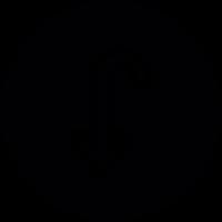 Down Curved Arrow Button vector