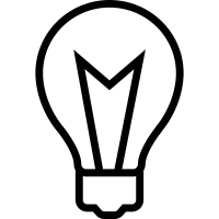 Bulb of light, IOS 7 interface symbol vector