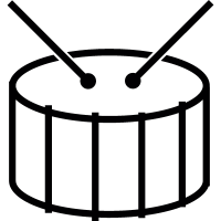 Drums, IOS 7 interface symbol vector