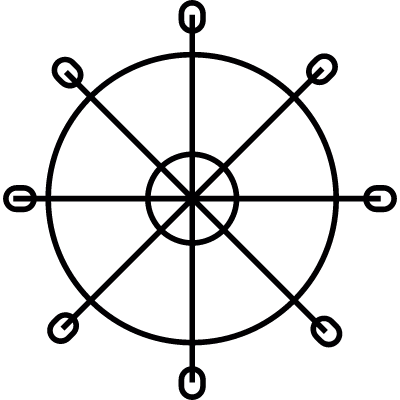 Dharma chakra, IOS 7 interface symbol vector logo