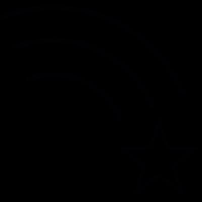 Star and rainbow, IOS 7 interface symbol vector logo