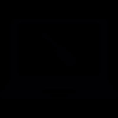 Screwdriver on laptop screen vector logo