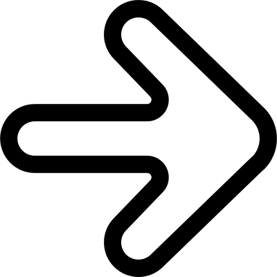 Arrow outline pointing to the right vector logo