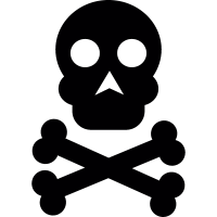 Skull and bones symbol vector
