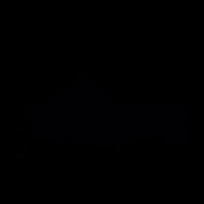 Cricket silhouette vector logo