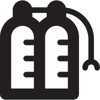 Two Oxygen Bottles with Mask vector