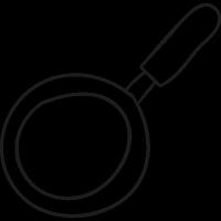 Frying Pan From Top vector