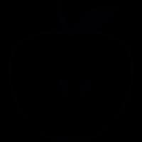 Apple Silhouette vector