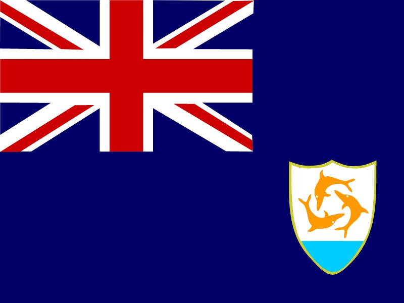 Flag of Anguilla vector logo