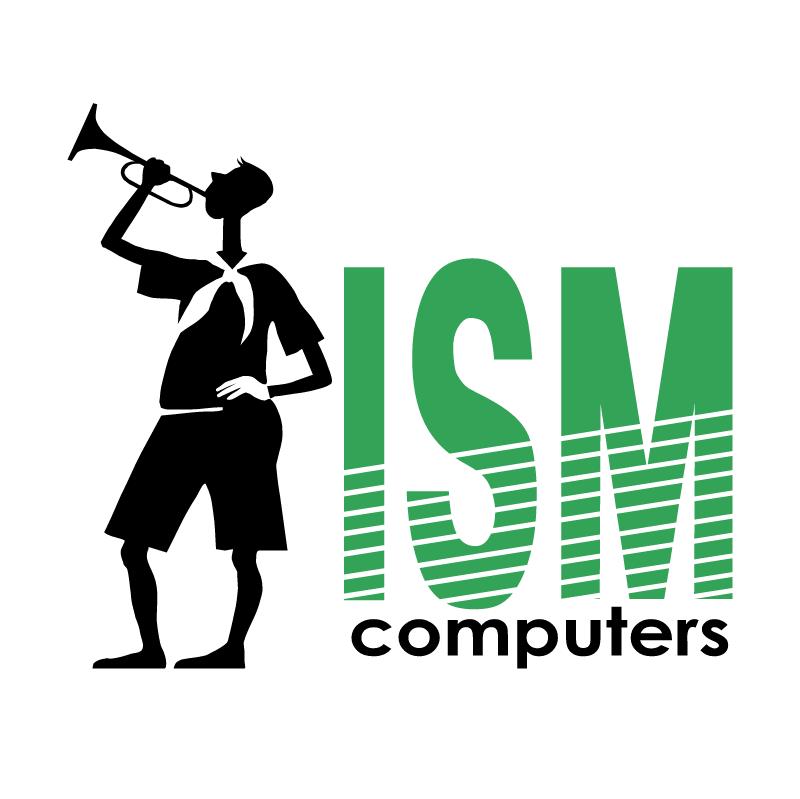 ISM computers vector logo