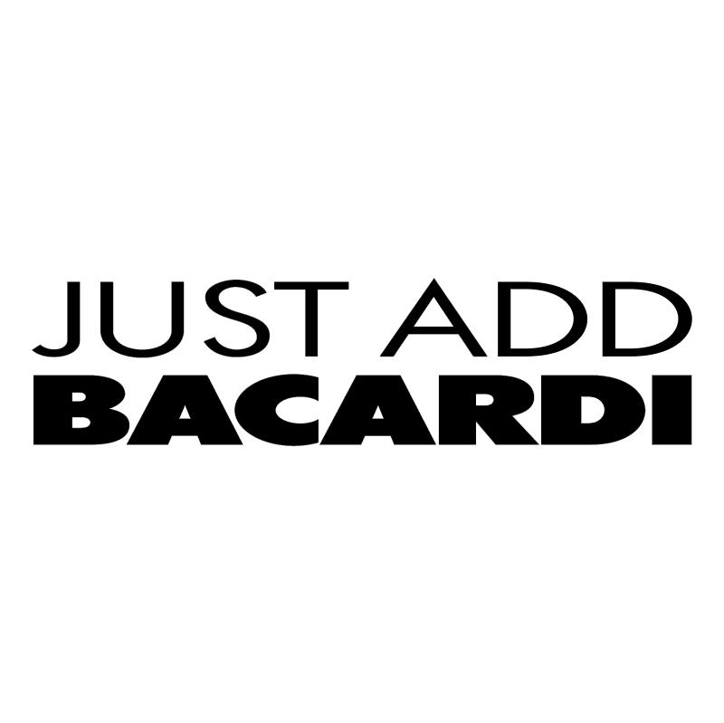 Just Add Bacardi vector
