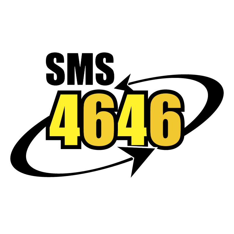 SMS 4646 vector logo