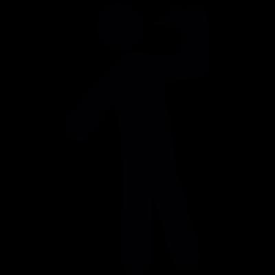 Man drinking vector logo