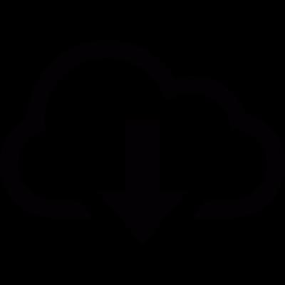 Download from cloud vector logo