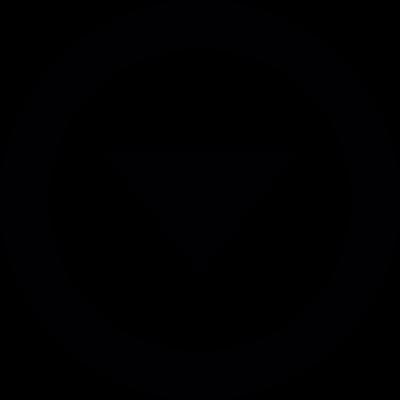 Down Arrow Button vector logo