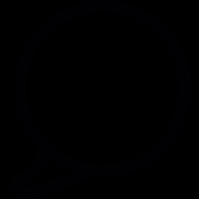 Chat speech bubble vector logo