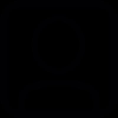 User in a square vector logo
