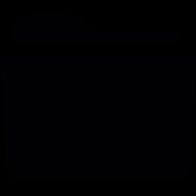 Folder shape vector logo