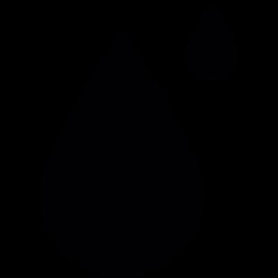 Big and small drops vector logo