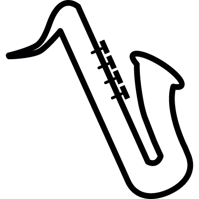 Saxophone musical instrument, IOS 7 interface symbol vector logo