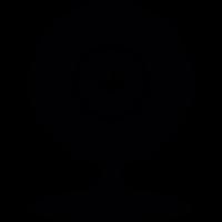 Circular computer webcam vector