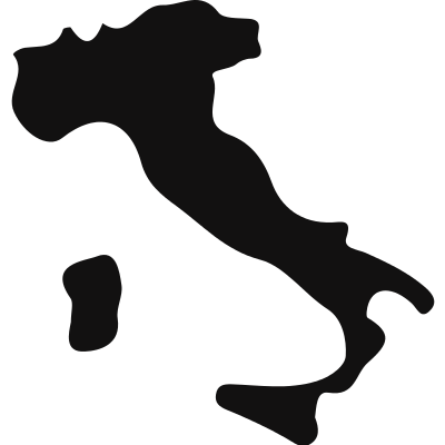 Italy black country map shape vector logo