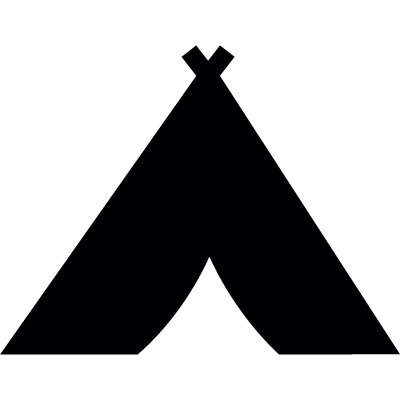 Tribal tent vector logo