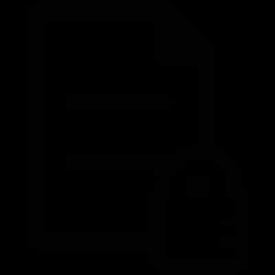 Secure Document vector logo
