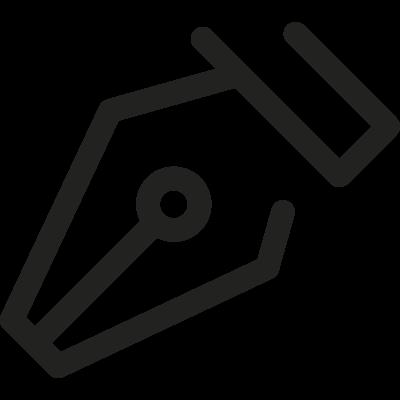 Inclined Pen vector logo