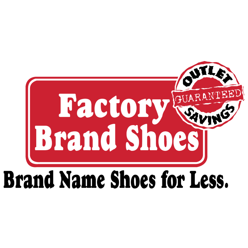 Factory Brand Shoes vector
