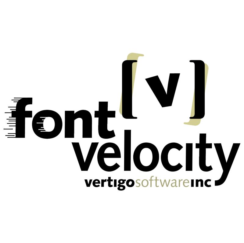 Font Velocity vector