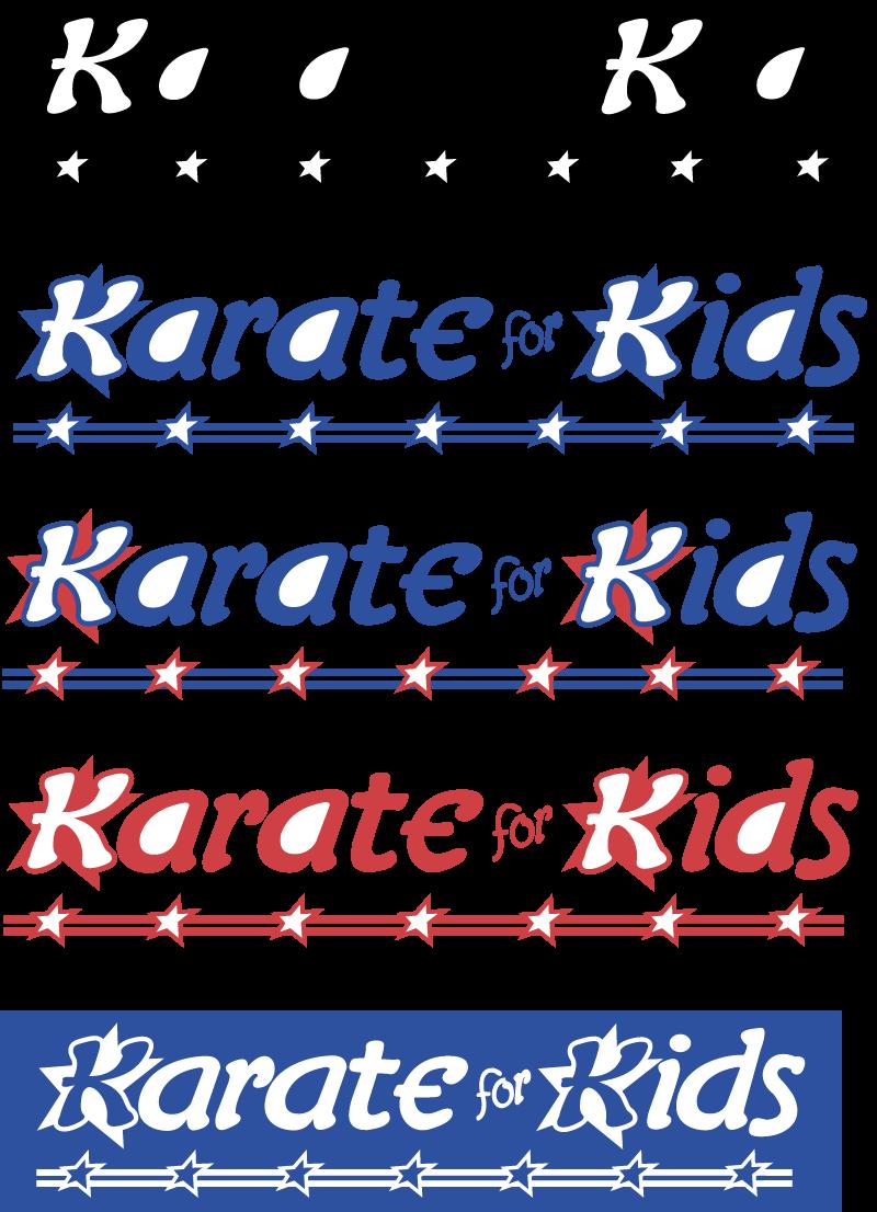 Karate for Kids vector logo