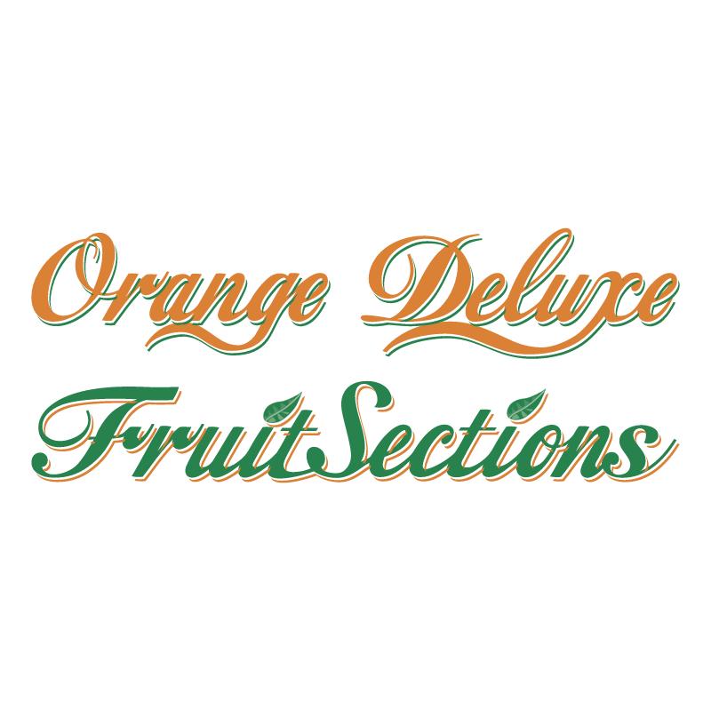Orange Deluxe Fruit Sections vector