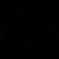 Single Raindrop with Cloud vector