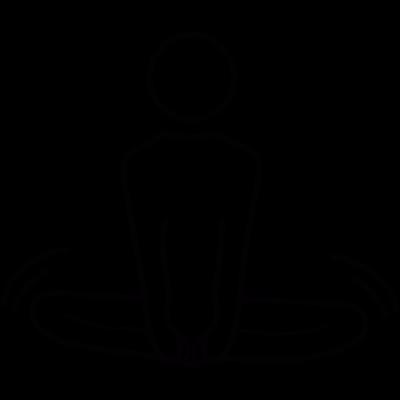 Yoga Lotus posture vector logo
