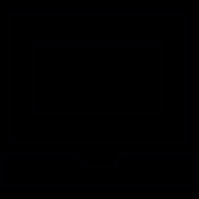 Old computer vector logo