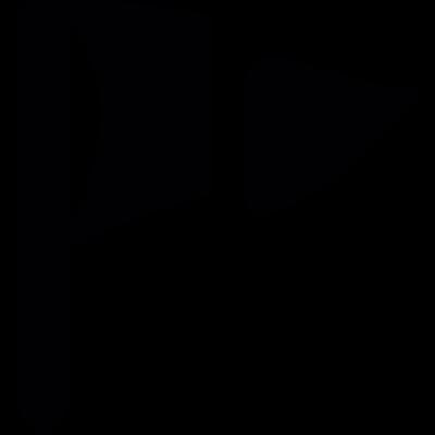 Cut triangle flag vector logo