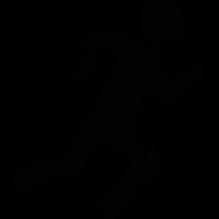 Running stick figure vector