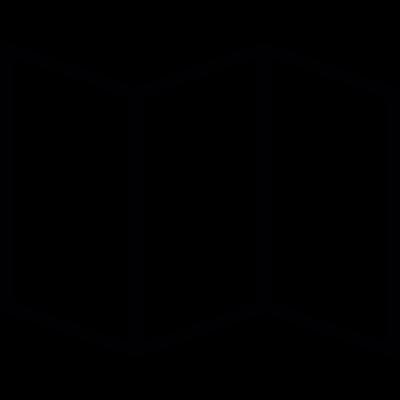 Folded paper map vector logo