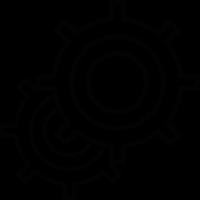 Cogwheels overlapped vector
