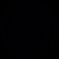 Two holes button vector
