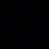 Shuffle arrows Circular Button vector
