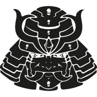 Samurai head of Japan vector