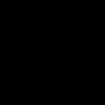 PDF file On Screen vector logo