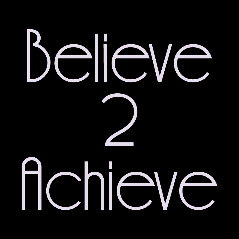 Believe 2 Achieve 20429 vector