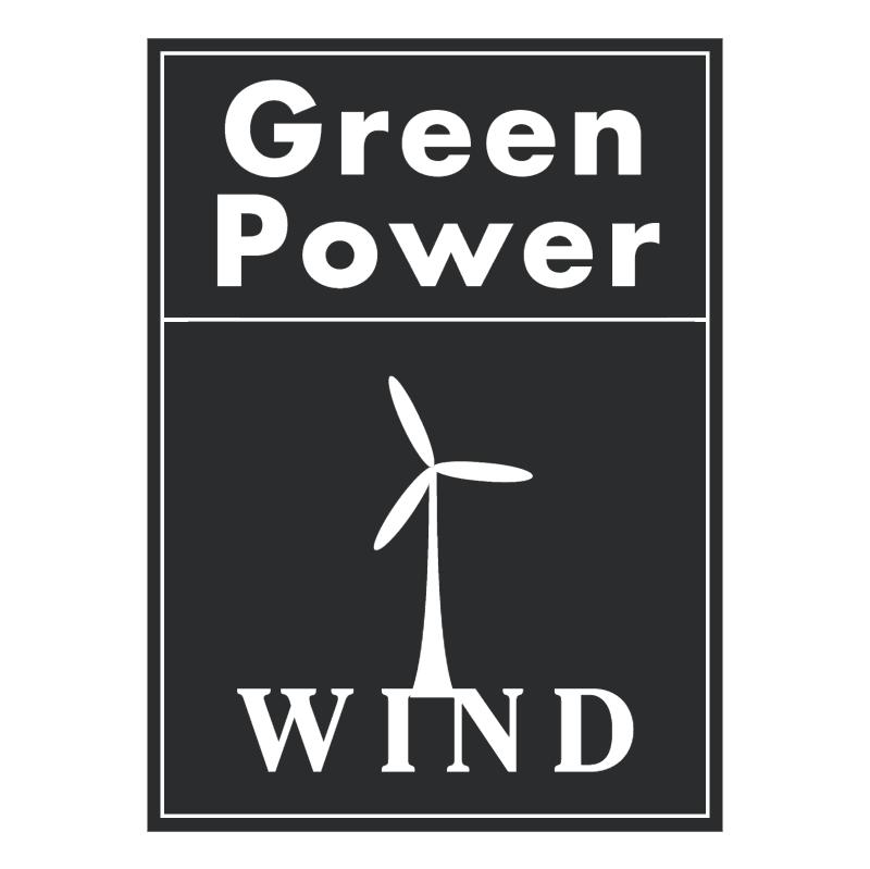 Green Power Wind vector