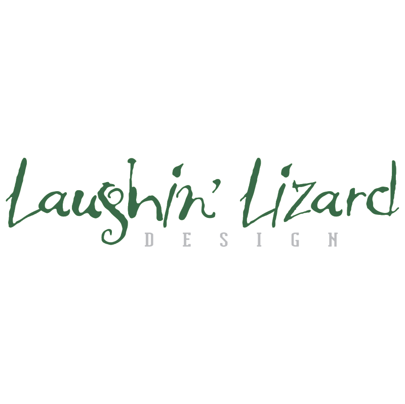 Laughin Lizard Design vector