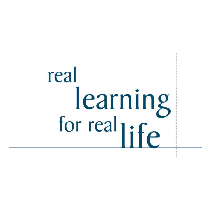 Real learning for real life vector logo