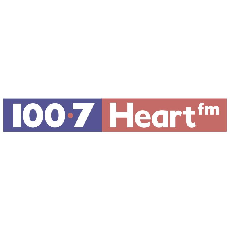 100 7 Heart FM vector logo