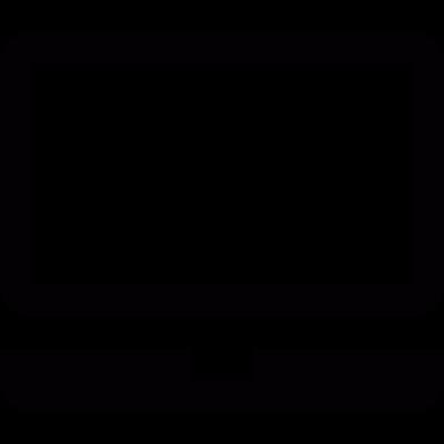 Laptop frontal monitor vector logo